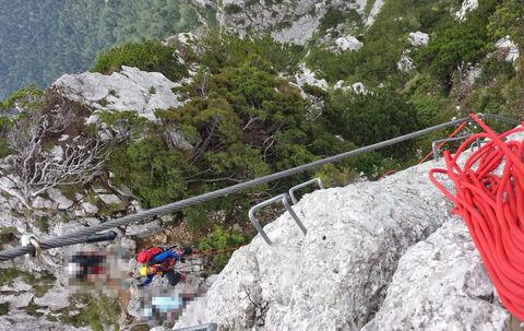 Klettersteig Chiemgau : Bergwacht rettet urlauberin aus dem pidinger klettersteig