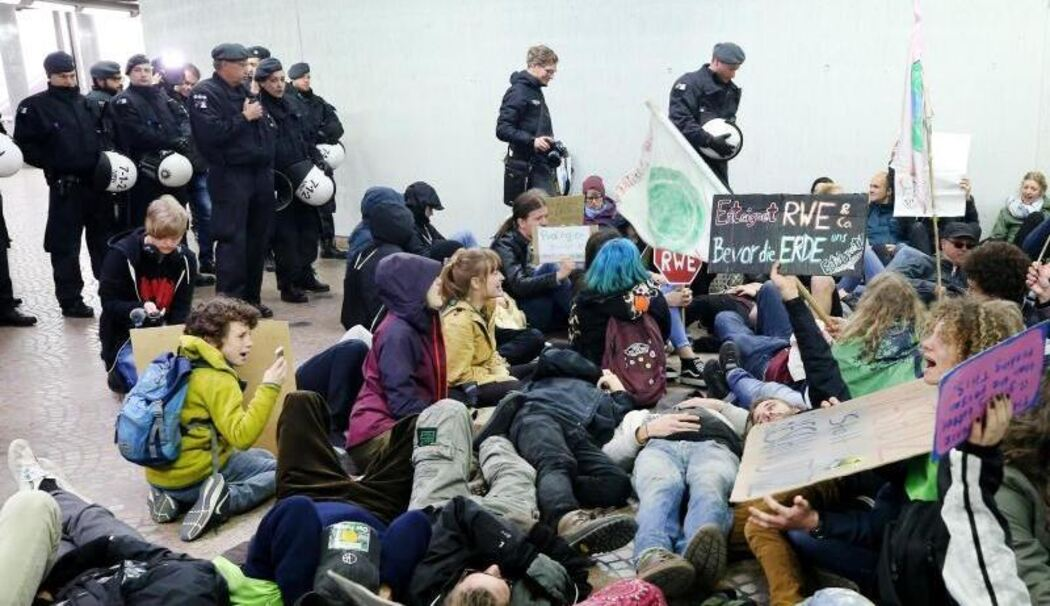 Fridays-for-Future-Proteste vor RWE