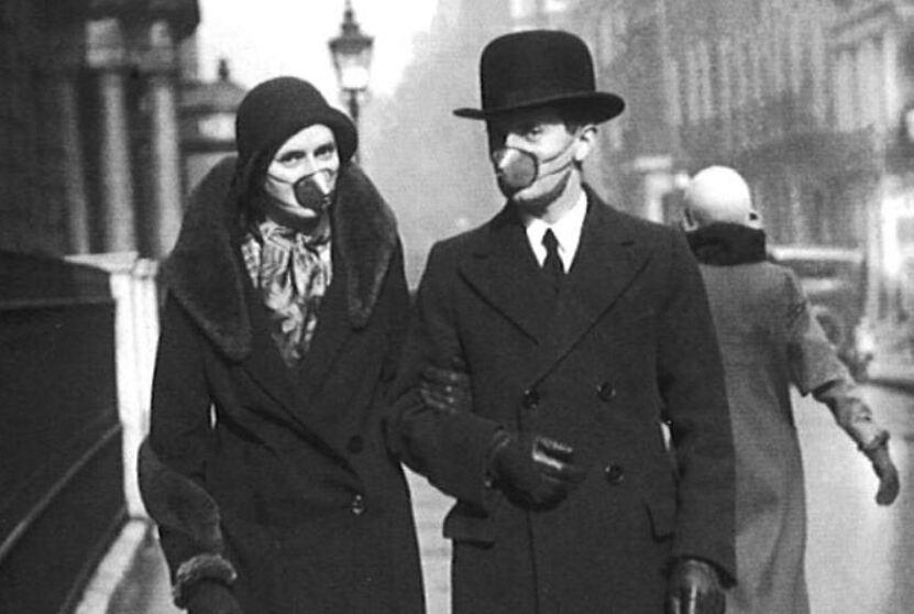 Spanische Grippe Masken